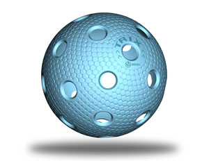 Floorball Ball in blau