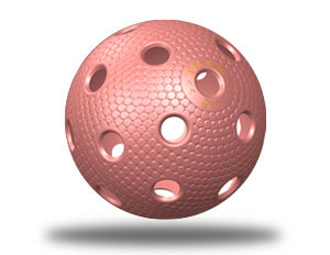 Floorball Spielball in pink