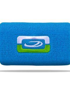Blaues Schweißband